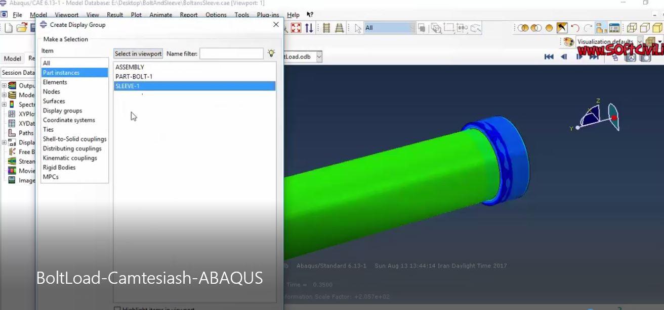 🔺آموزش رایگان و فارسی نرم افزار ABAQUS 🔸موضوع: مدلسازی و تحلیل نیروی پیچ (Bolt Load) در آباکوس